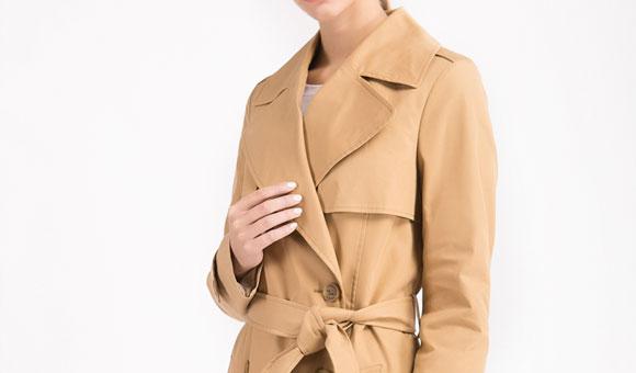 女士修身风衣,定制性价比更高 LESS MORE多少定制