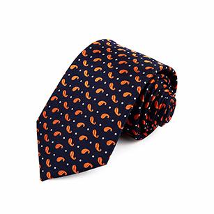 逗号印花时尚休闲领带