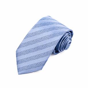 浅蓝色斜纹商务领带