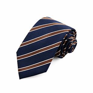 深蓝色斜纹爆款商务领带
