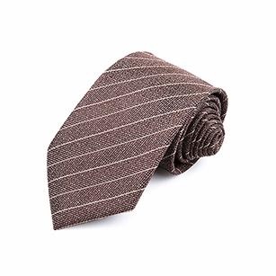 褐色斜纹优雅商务领带