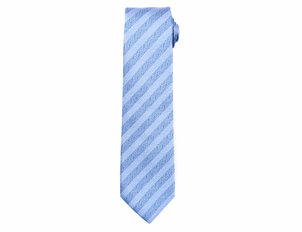 浅蓝色斜纹领带