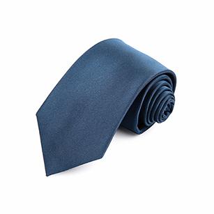 浅蓝色素色正装领带
