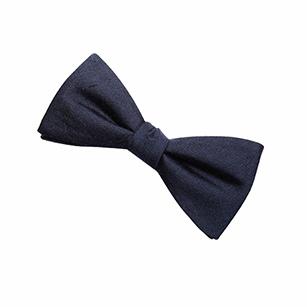 蓝色素色商务领结