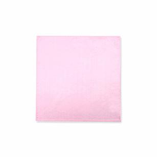 粉色素色时尚口袋方巾
