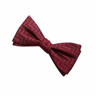 红色印花时尚领结