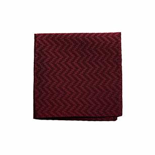 酒红色菱纹优雅口袋方巾
