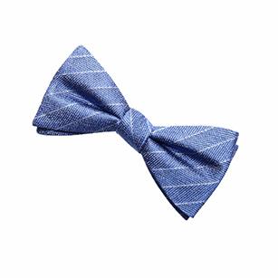 浅蓝色斜纹商务领结