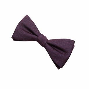 紫色印花休闲领结