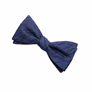 深蓝色印花时尚领结