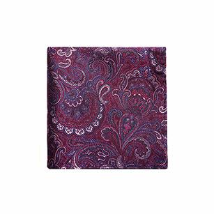 紫色印花时尚口袋方巾