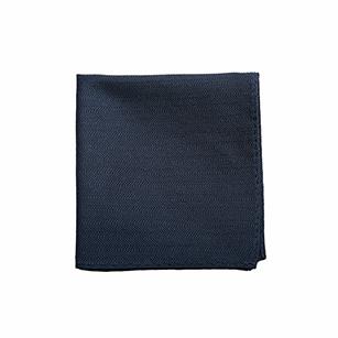 蓝色竖条纹百搭口袋方巾