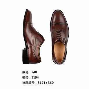 棕色素头皮鞋