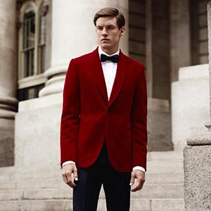 高级红丝绒奢华礼服套装