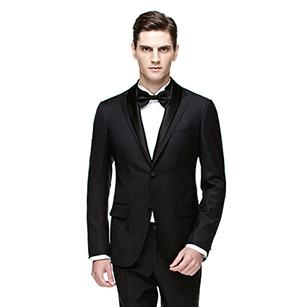 黑色可拆卸领礼服套装