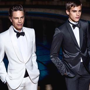 纯黑白全羊毛奢华礼服套装